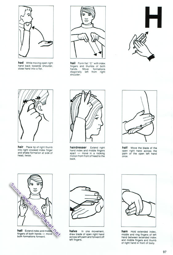 American sign language and sex terms